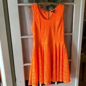 Express bright orange dress. 🍊